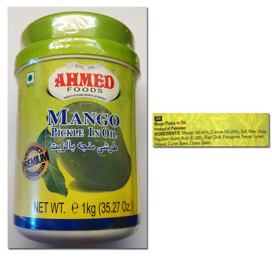 Mango pickle Ahmed Foods