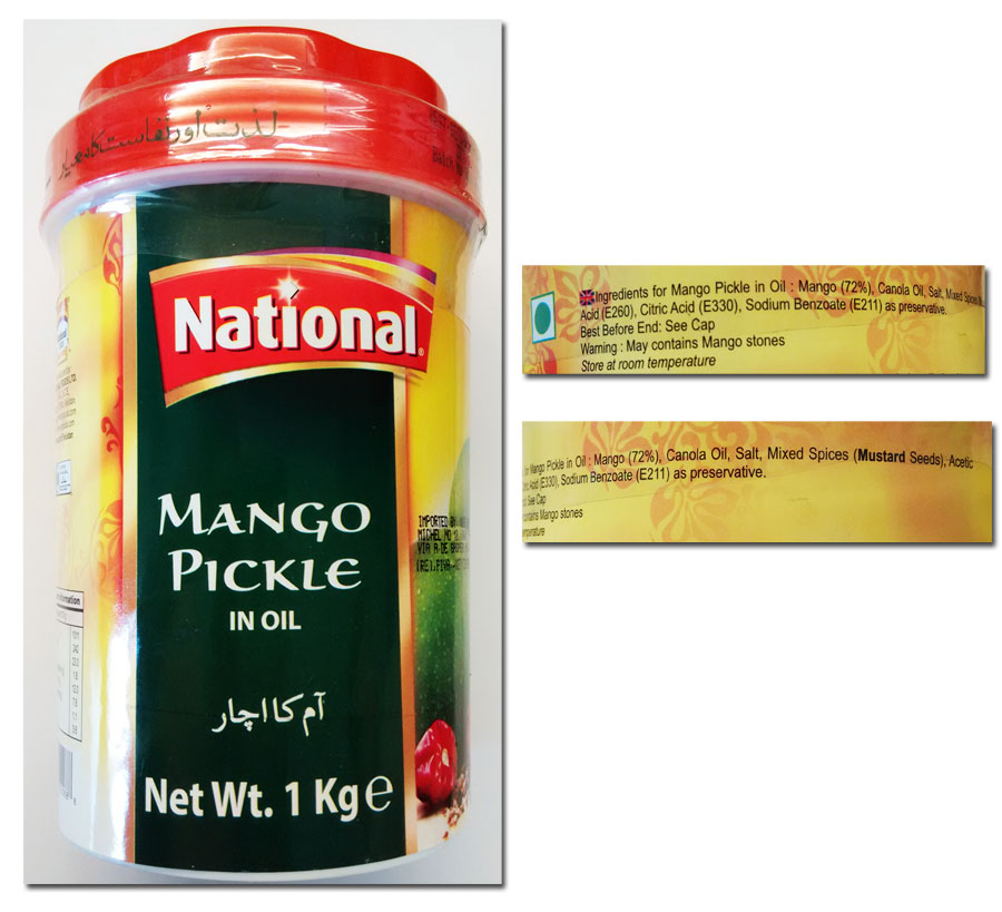 Mango pickle National